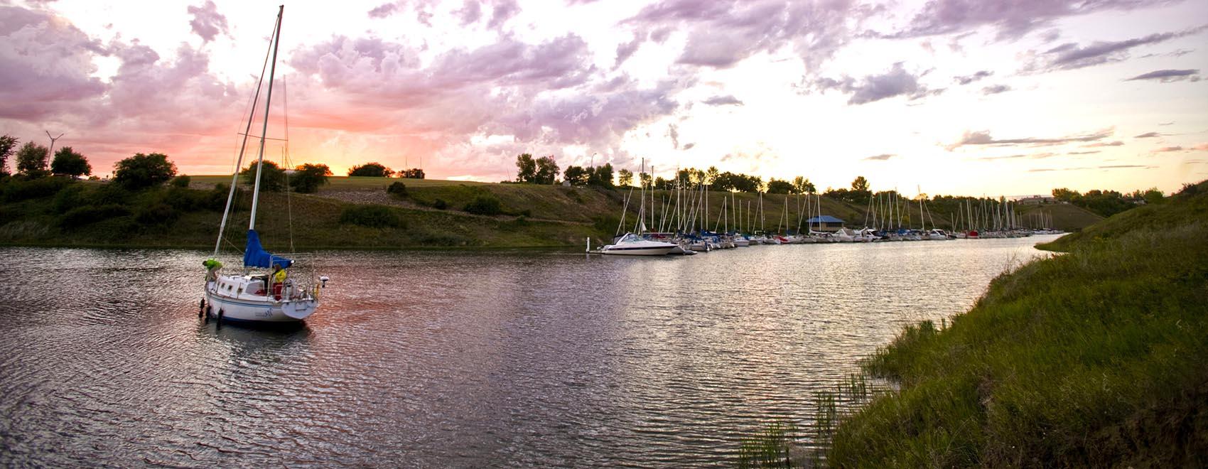 Elbow Marina Photo credit: Tourism Saskatchewan/Paul Austring