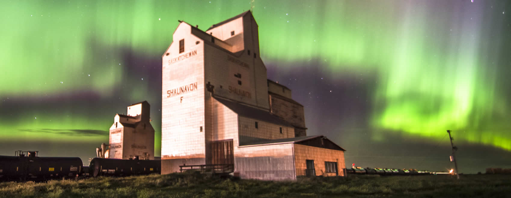 Shaunavon Grain Elevator Saskatchewan - Northern Lights