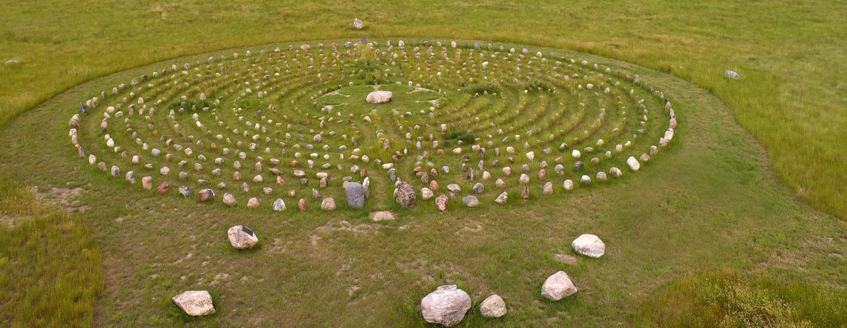 Aerial, Mary's Labyrinth, south of Val Marie, Saskatchewan