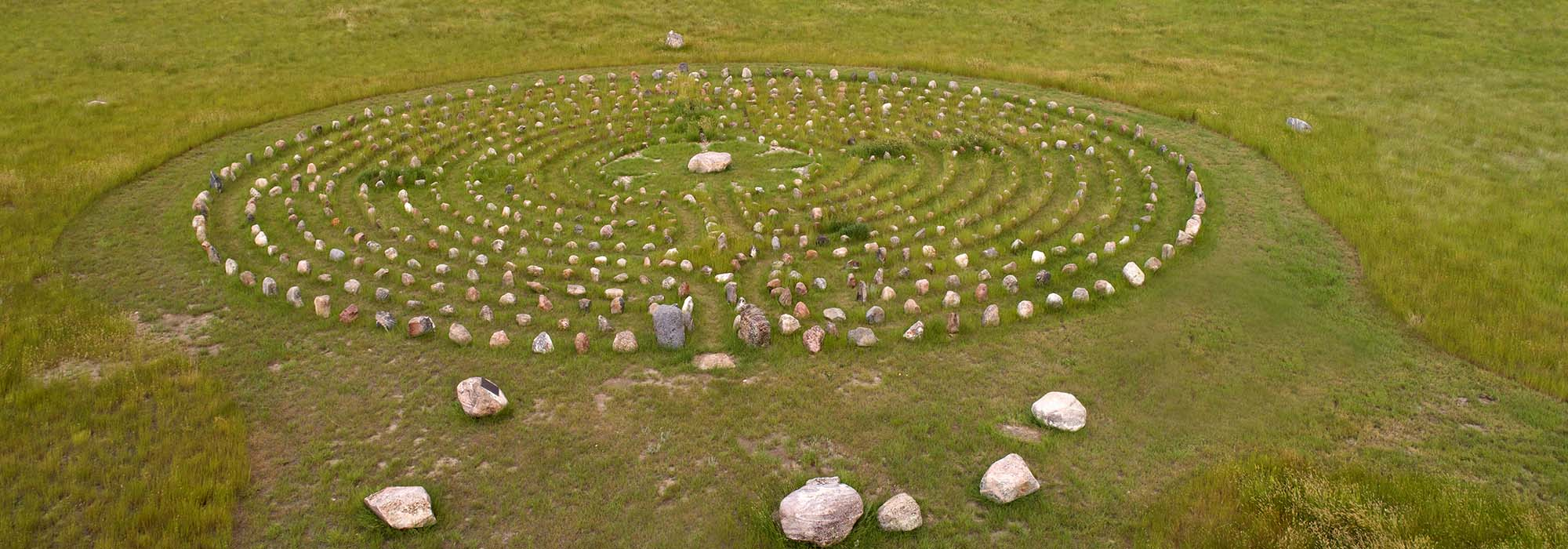 Aerial, Mary's Labyrinth, south of Val Marie, Saskatchewan